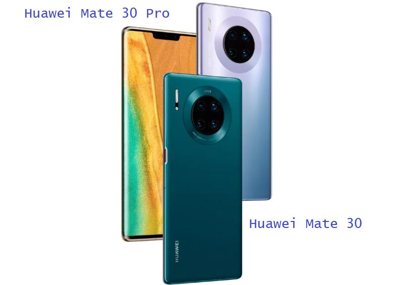 Huawei Mate 30 Vs Huawei Mate 30 Pro Comparison