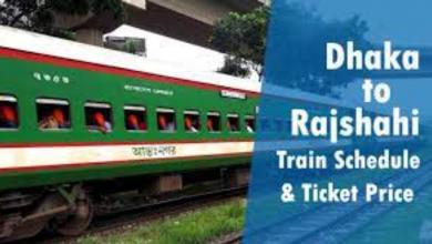 Train schedule from Rajshahi to Dhaka