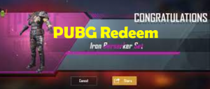 Free PUBG Redeem Code 2021